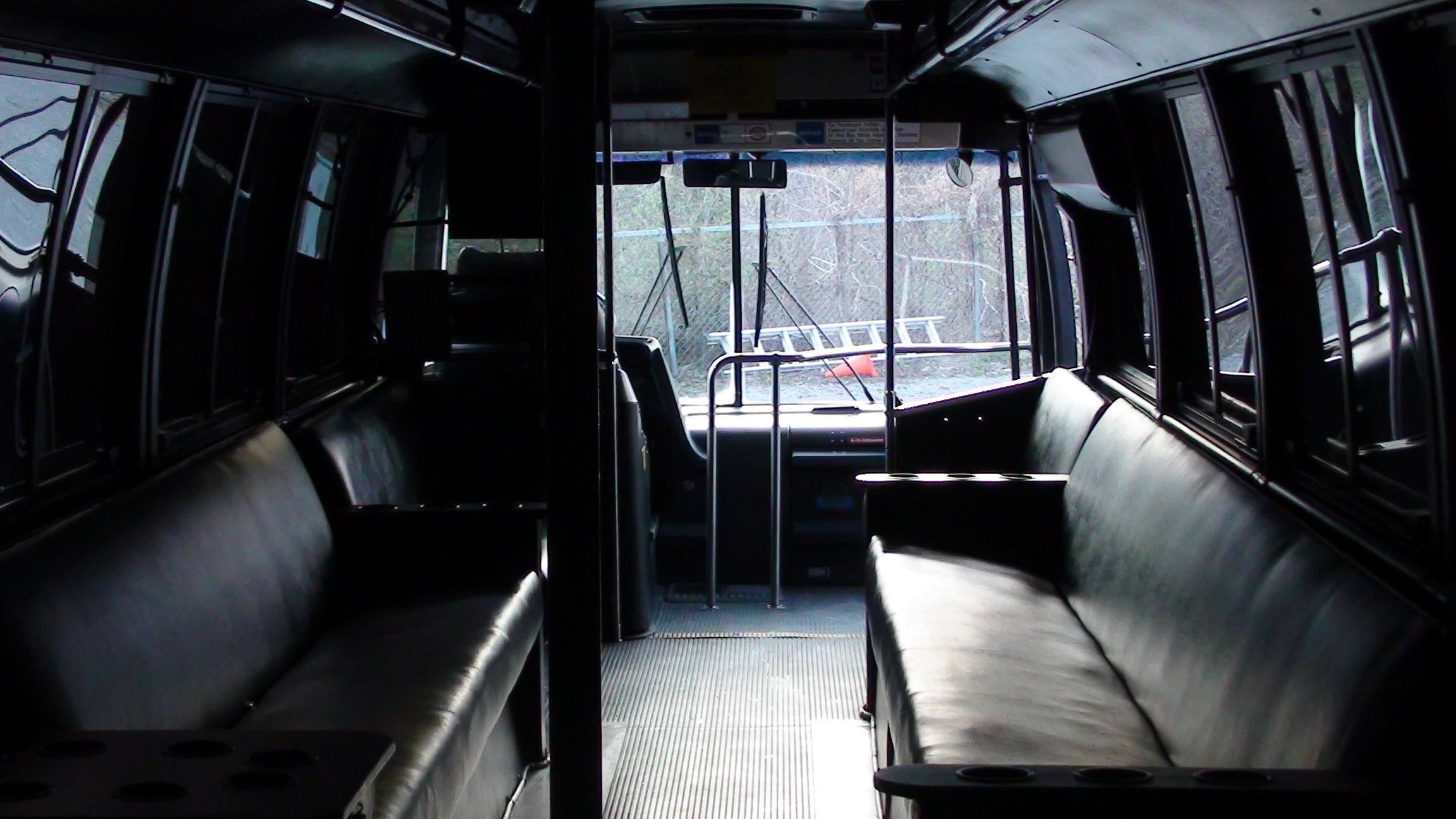 Orange Party Bus Rental Kc Night Train