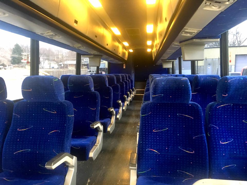 Inside the Charter Bus