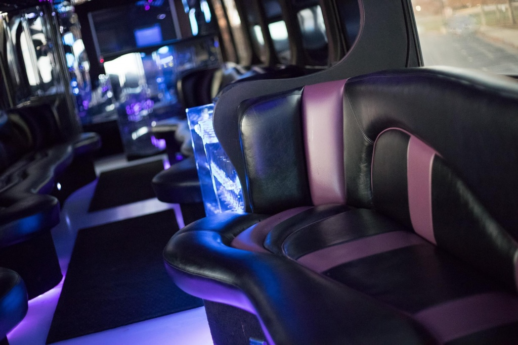 Limo Bus (Interior, Curved Seating, View 1)