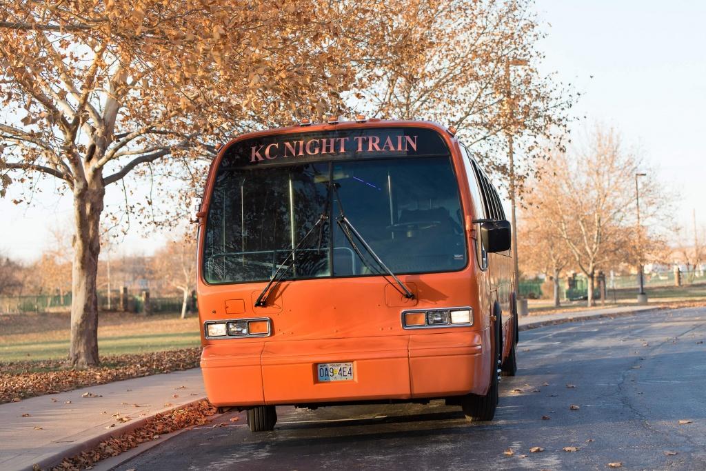 Orange Party Bus (Exterior, Front)